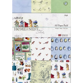 Set de papier A5 Home To Nest by Lucy Cromwell (20f) – Docrafts Papermania