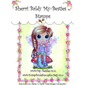 Tampon My Besties Wee Winged One Sparkle – Sherry Baldy – Clear Stamp