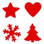 Set de 4 perforatrices de Noël - Artémio