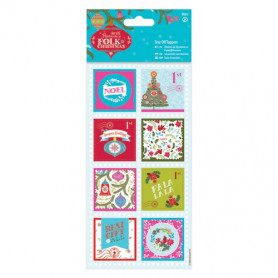 Tear Off Toppers Linen (16pcs) - Folk Christmas - Docrafts