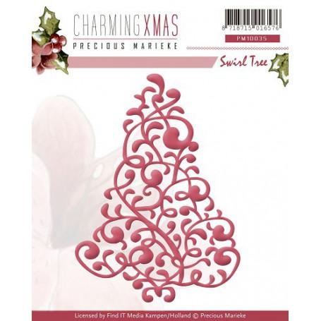 Die  Swirl Tree - Charming Xmas - Precious Marieke