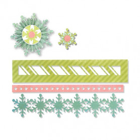 Dies Winter Borders and Rosette 9 pc -Thinlits by Paula Pascual – Sizzix