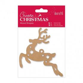 Forme en bois Rennes - Create Christmas - Docrafts