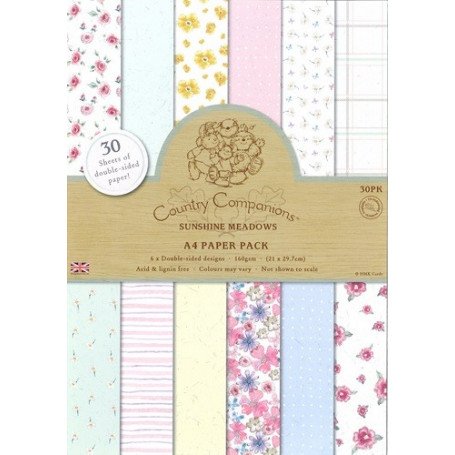 Set de papier A4 Sunshine Meadows (30f) –  Country Companions