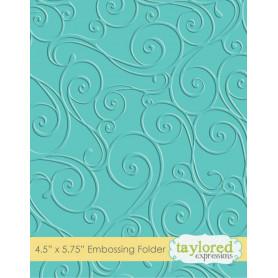 Classeur de gaufrage Twirls & Swirls - Taylored Expressions Embossing Folder