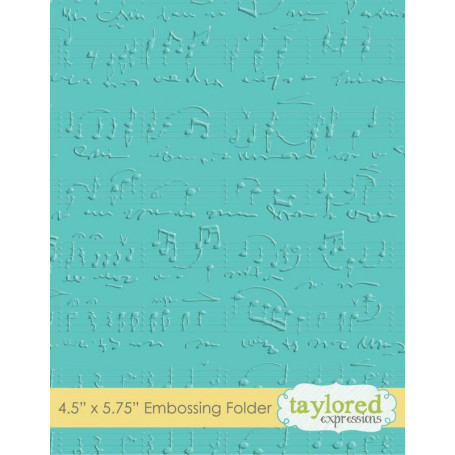 Classeur de gaufrage Sheet Music - Taylored Expressions Embossing Folder