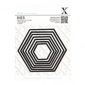Dies Set de 7 Hexagones - Xcut Nesting Dies Hexagons