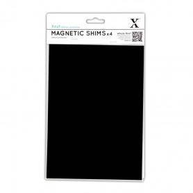 Plaques magnétiques adhésives A5 4 pc - Xcut Magnetic Shims