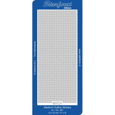 Starform Outline Stickers N° 997 Petites étoiles Auto-collants Peel off