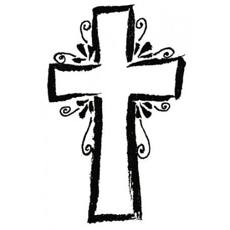 Tampon bois Croix stylisée – Artemio