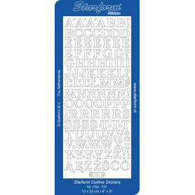 Autocollant Alphabet - Starform 131