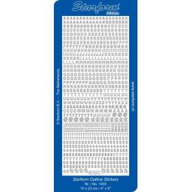 Autocollant Alphabet et chiffres - Starform 1000