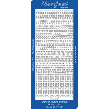 Autocollant Alphabet et chiffres - Starform 1165