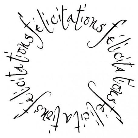 Tampon bois Félicitations en forme de cercle – Artemio