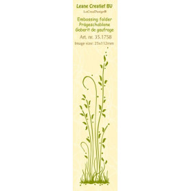 Classeur de gaufrage Frise herbes longues 25x112mm - Leane Creatief Border embossing folder Grass long