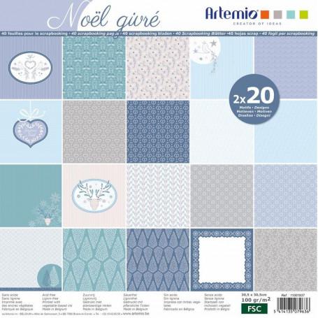 Set de papier 30x30 Noël Givré 40f – Artemio