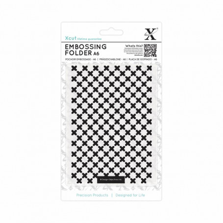 Classeur de gaufrage A6 Moroccan Cross Tiles – Xcut – Embossing folder