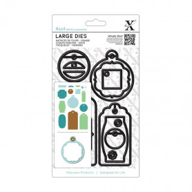 Dies Set de 15 Etiquettes - Xcut Large Dies Gift Tag Set Everyday