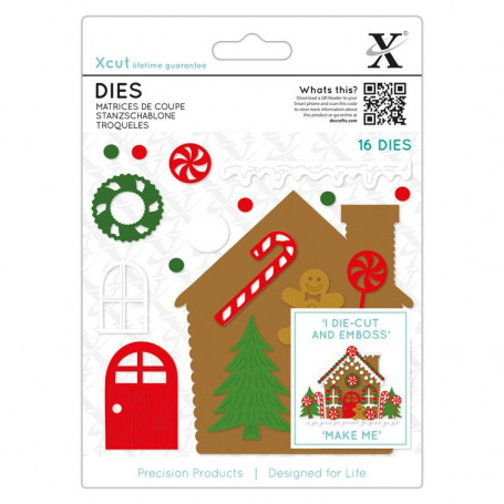 Dies Gingerbread House 16 pc - Xcut
