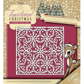 Die Snowflake Frame - Traditional Christmas - Yvonne Creations