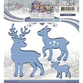 Dies Reindeer - Colourful Christmas - Yvonne Creations