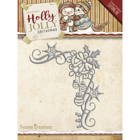 Die Holly Jolly Christmas Decoration - Yvonne Creations