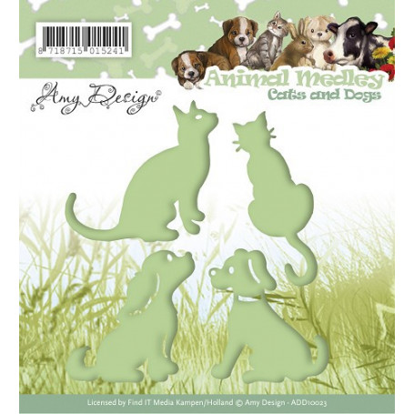 Dies Cats and Dogs - Animal Medley - Amy Design