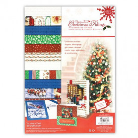Kit carterie A4 Christmas Tidings (48f) – Docrafts Papermania A4 Ultimate Die-cut pack