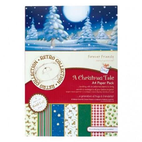Set de papier A4 A Christmas Tale (24f) –  Forever Friends - Docrafts Papermania