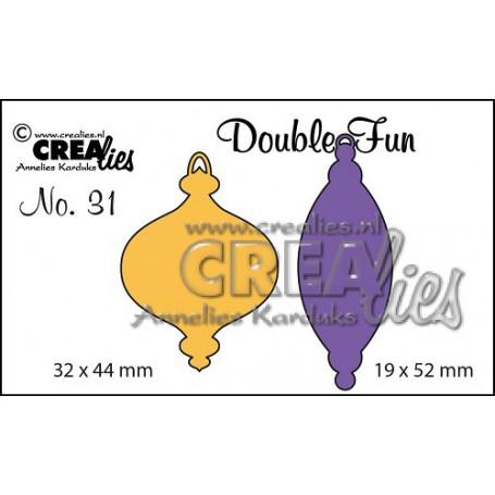 Dies Double Fun no. 31 Christmas ornament A + B solid small - Crealies