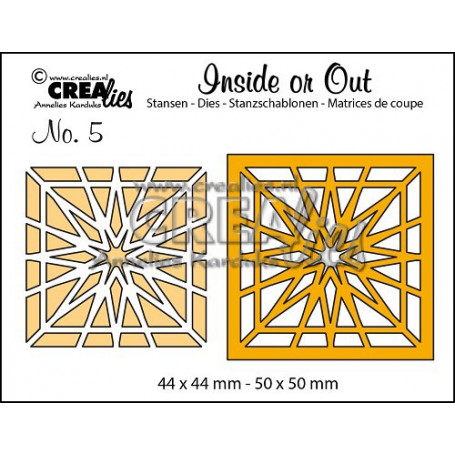 Dies Inside or Out no. 5 Block Star - Crealies