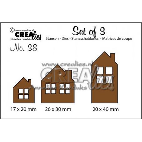 Dies Set of 3 Houses - Crealies