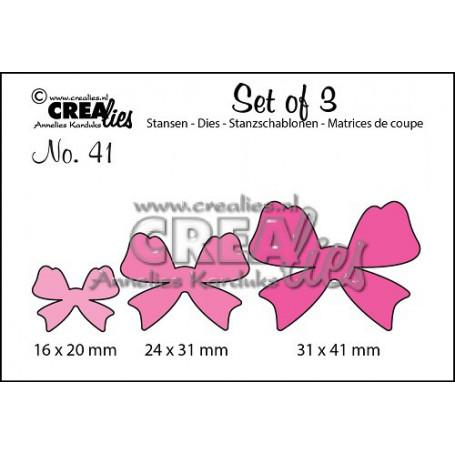 Dies Set of 3 Bows - Crealies