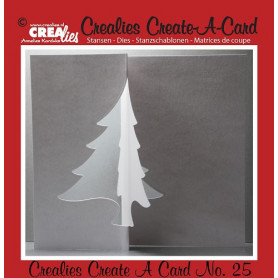 Die Create A Card no 25 Sapin - Crealies
