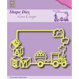 Die Frame Baby Train - Lene Design - Nellie's Choice