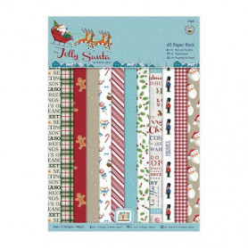 Set de papier A5 Jolly Santa (24f) - Docrafts Papermania