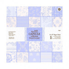 Set de papier 20x20 French Lavender (32f) – Capsule Docrafts Papermania