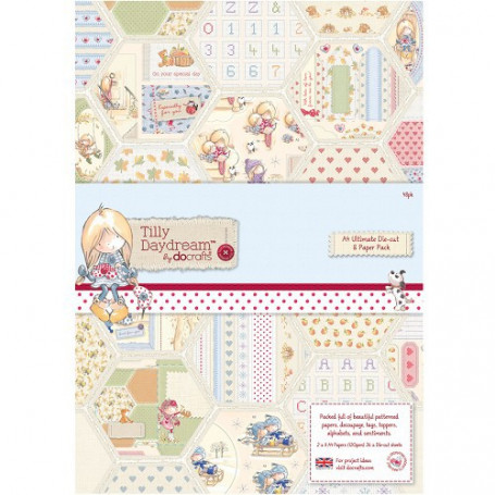 Set de papier A4 et Die-Cut  (48f) –  Tilly Daydream - Docrafts Papermania