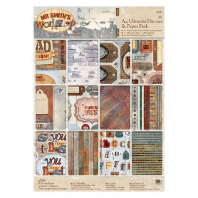 Set de papier et Die-cut A4 Mr Smith's Workshop 48f - Docrafts Papermania