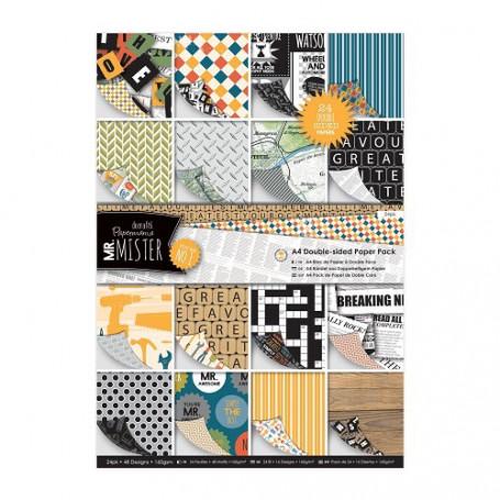 Set de papier A4 Mr Mister 24f - Docrafts Papermania