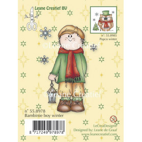 Tampon Boy Winter - Bambinie's Leane Creatief Clear stamp