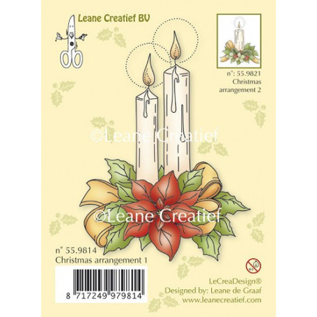 Tampon Christmas arrangement 1 - Leane Creatief Clear stamp
