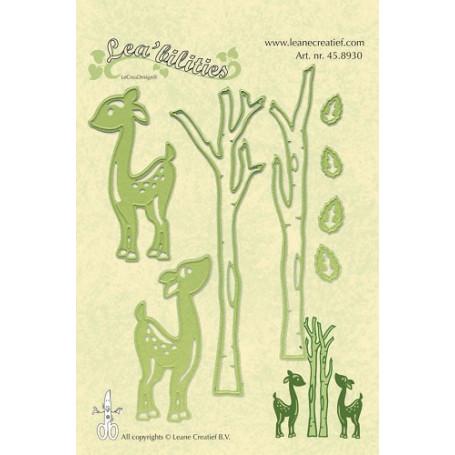 Dies Deer and Trees - Lea'bilities - Leane Creatief