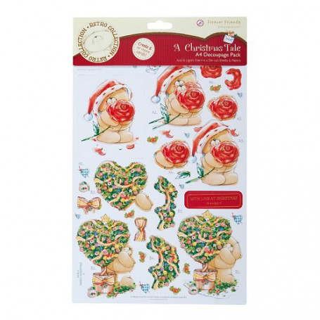 A4 Foiled Decoupage Pack - A Christmas Tale - Forever Friends
