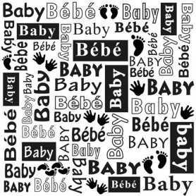 Classeur de gaufrage 15x15cm Baby Multi Language Text - Nellie's Choice Embossing folder