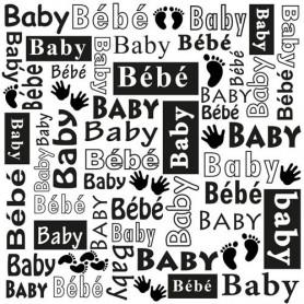 Classeur de gaufrage 15x15cm Baby Multi Language Text - Nellie's Choice Embossing folder