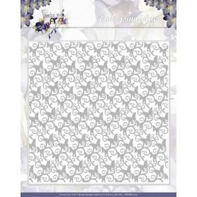 Classeur de gaufrage 15x15cm Papillons - Precious Marieke Embossing folder Swirly Butterflies