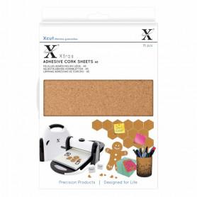 Feuilles adhésives en liège A5 (15pc) - Xcut Xtra's Adhesive Cork Sheets