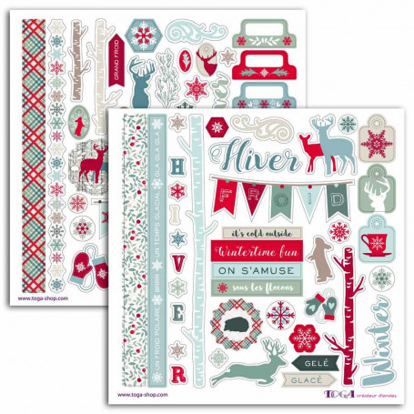 Stickers Solstice d'hiver 78 pc - Toga