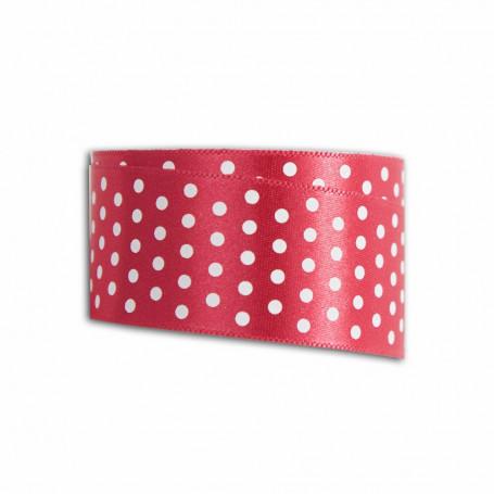 Ruban rouge à pois blanc 4m x 2,7 cm – Toga